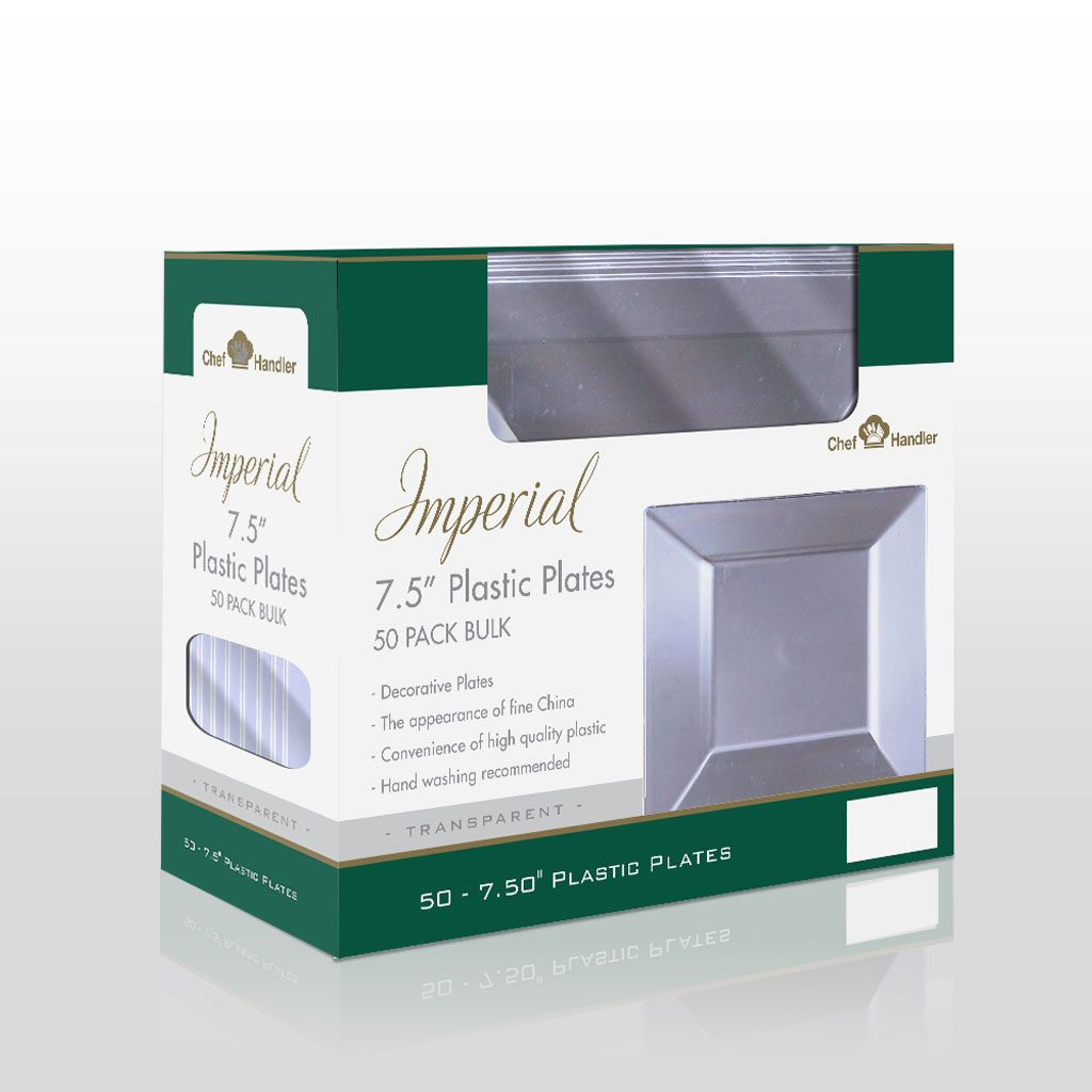 Our Imperial Clear Square Plastic Plate is available at Chef Handler in bulk! For a  sc 1 st  Pinterest & Imperial Classic Square 10.25u2033 Clear Plastic Plates - 50ct | Plastic ...
