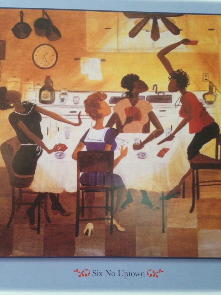 Bid whist african art family game night black art