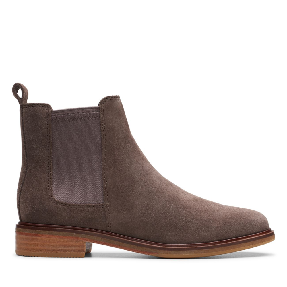 Clarkdale Arlo Taupe Suede - Womens