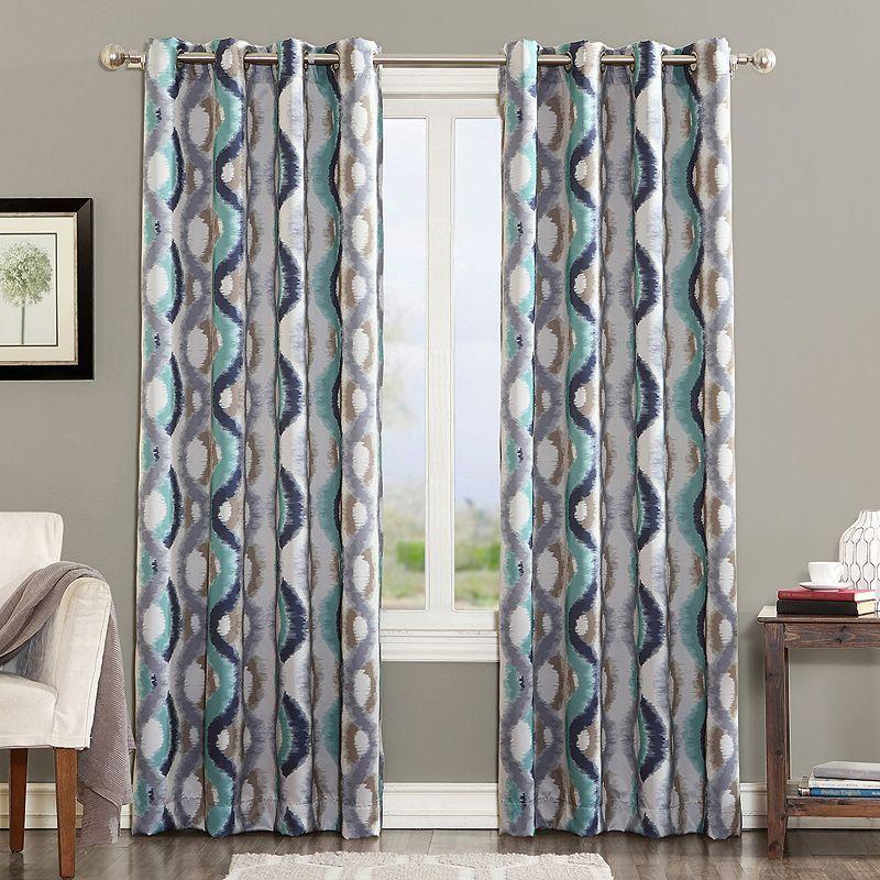 Sun Zero 1 Panel Knox Window Curtain Grommet Curtains Panel Curtains Printed Curtains