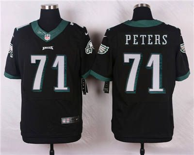 New Nike Philadelphia Eagles #71 Jason Peters Blank Black Elite Jersey  for sale
