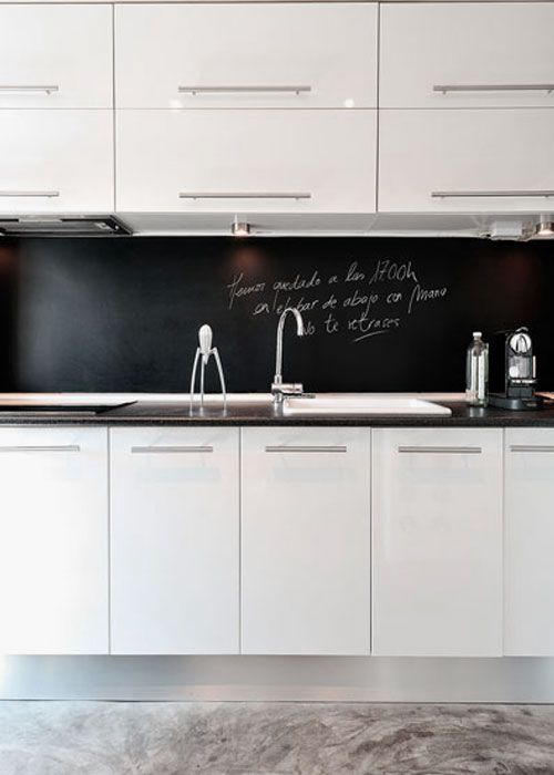 tafelfarbe statt fliesenspiegel   küche   pinterest ... - Küche Statt Fliesenspiegel