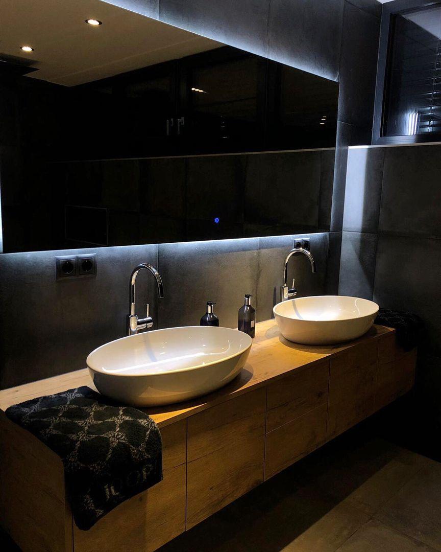 Werbung Joop Villeroyboch Grohe Interior Interiordesign Bathroom Bathroomideas Interiorbygm Dark Love Instagra Badezimmer Baden Instagram