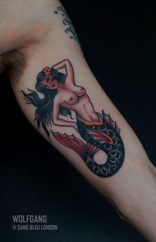 Mermaid done sbldnttt thanks scott for bookings for Traditional mermaid tattoo
