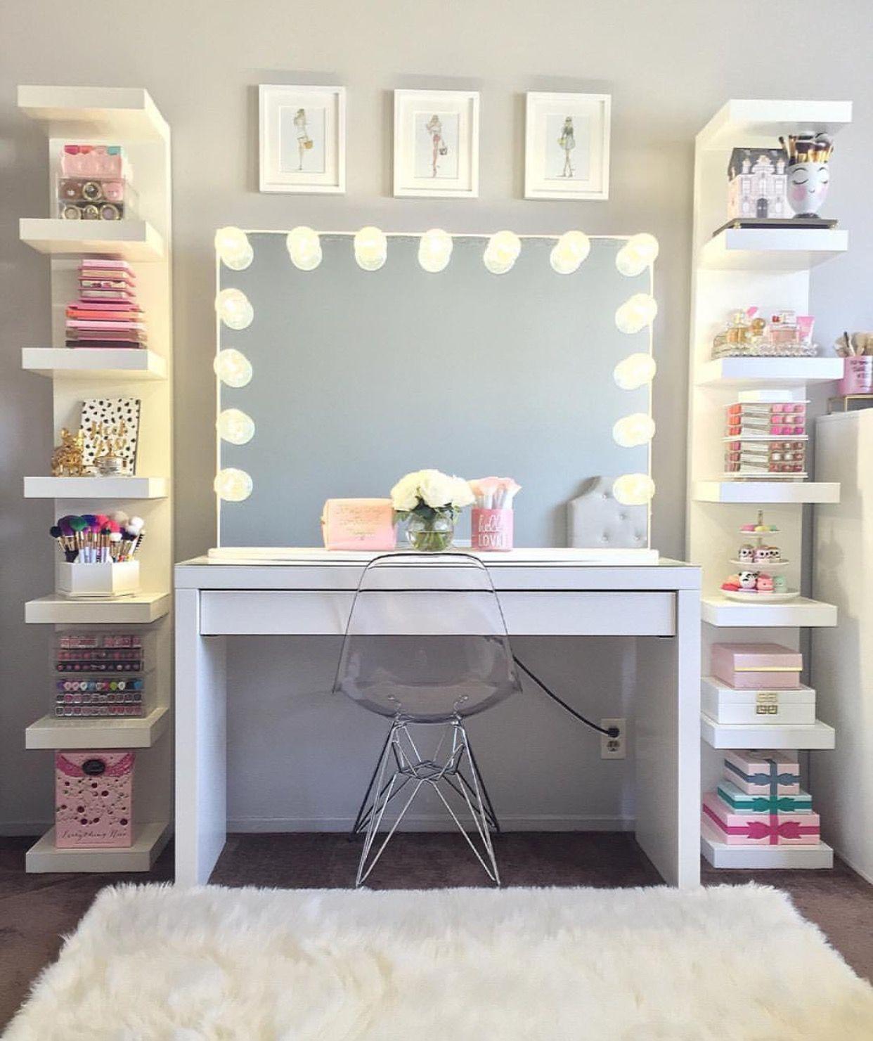 Pin de marisa poole en teenage girl bedroom designs decor - Tocadores para habitacion ...