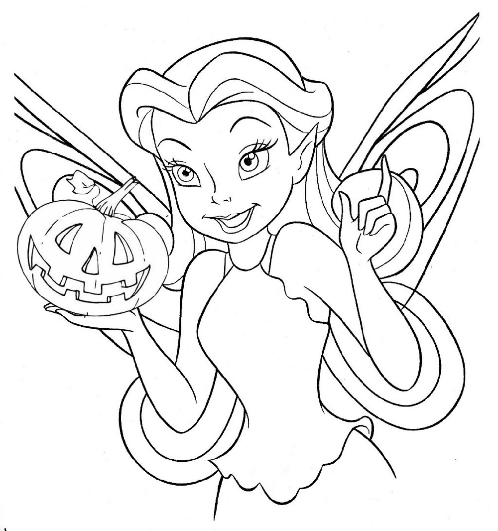 Free Halloween Coloring Pages Tinkerbell coloring pages