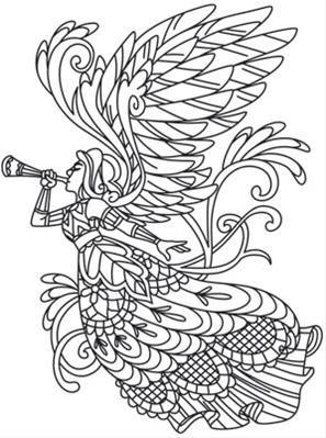 Delicate December Angel Image Angel Coloring Pages Christmas