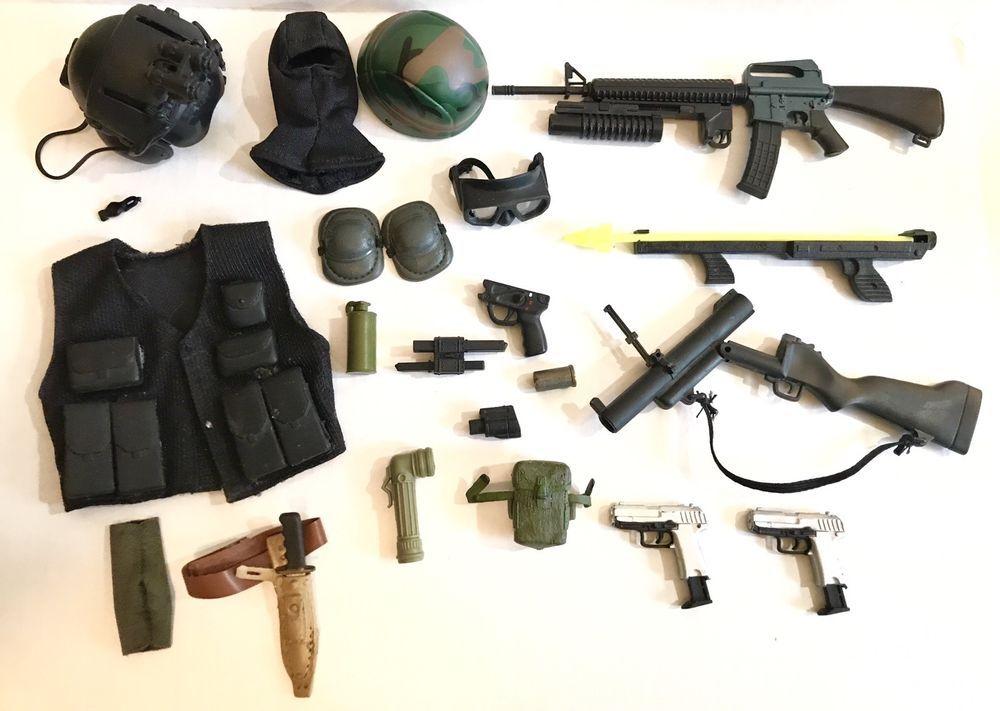 """21st CENTURY TOYS GI JOE BLACK HAND GUN FOR 12/"""" ACTION FIGURES"""
