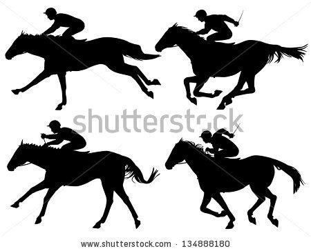 Horse Jockey Silhouette For Large Cut Outs
