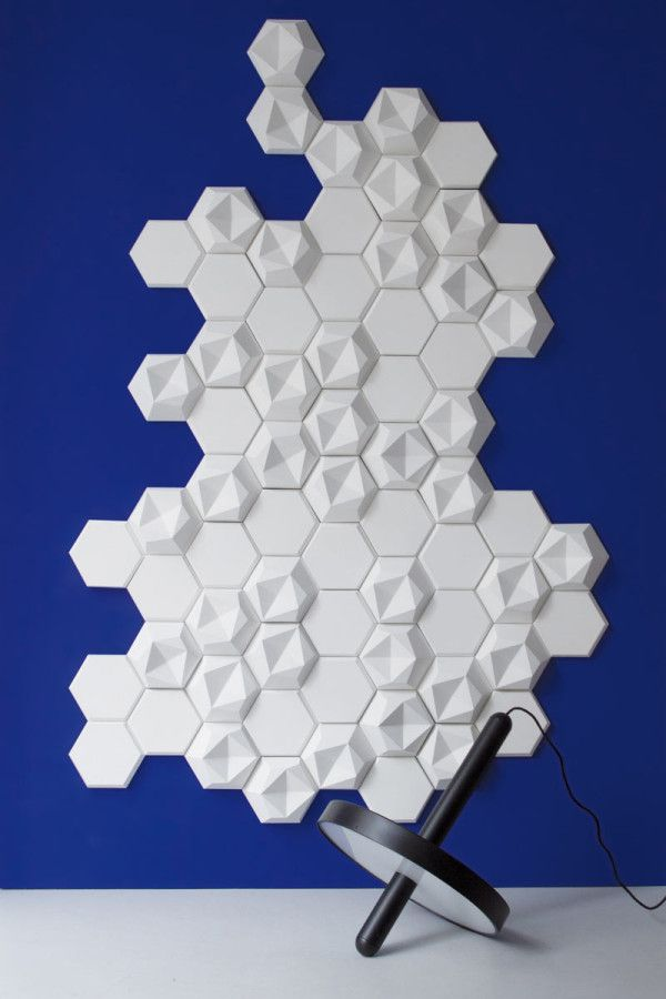 Edgy, a collection of hexagonal wall tiles for KAZA Concrete by Patrycja Domanska and Tanja Lightfoot