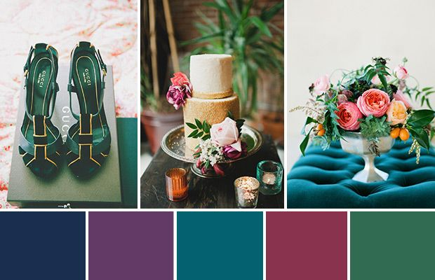 Fit for royalty jewel toned wedding colours vintage - What are jewel tone colors ...