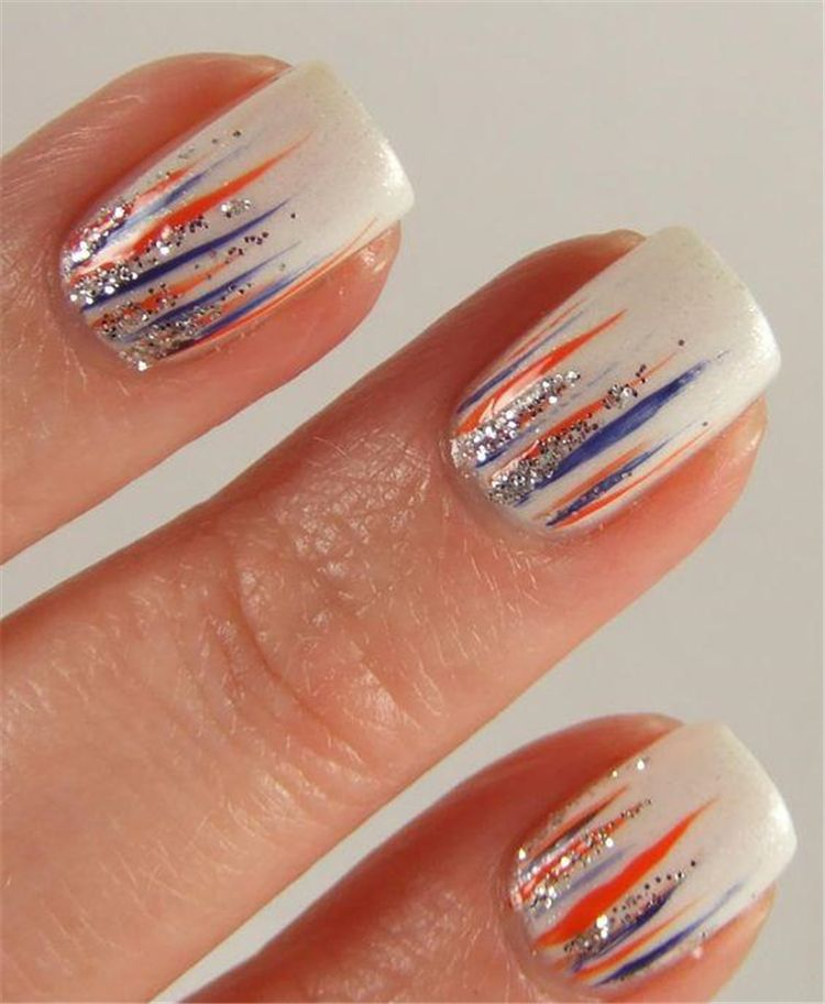 Create your own colorful simple easy ombre waterfall nail idea