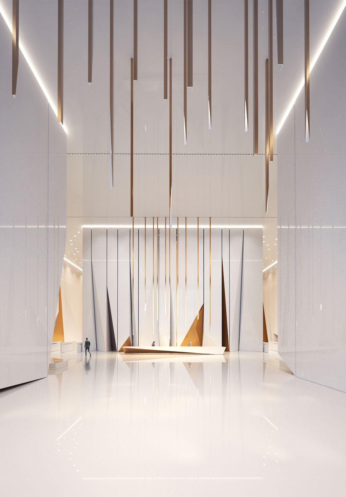 Lobby space on behance atrium design interior office also modern interiors ideas hospitality rh pinterest