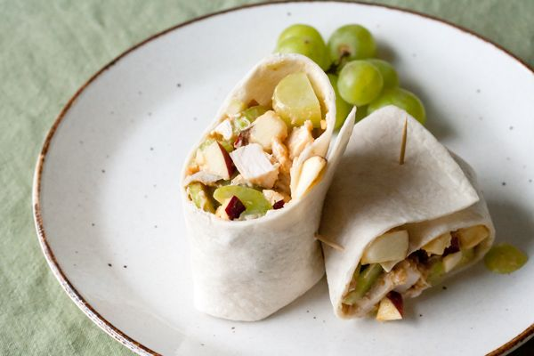 Peanut Butter Chicken Waldorf Wraps  Posted by Isabelle Boucher from http://www.crumbblog.com/