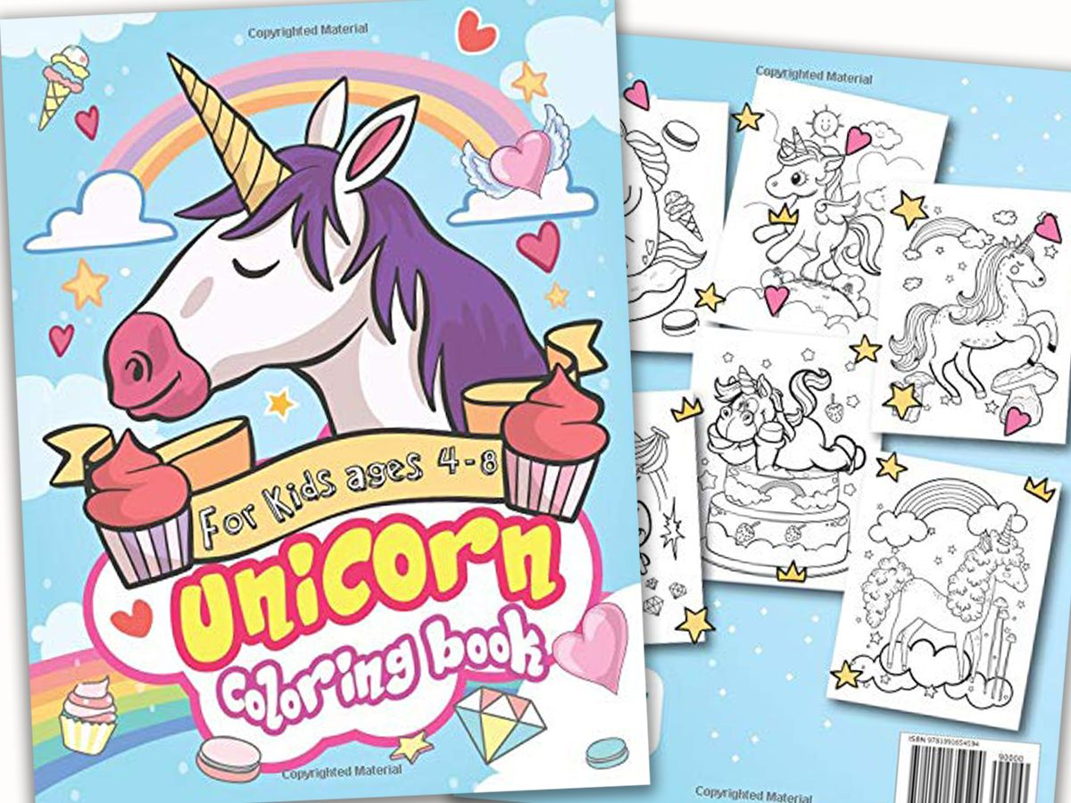 New Arrival The Best Unicorn Coloring Book For