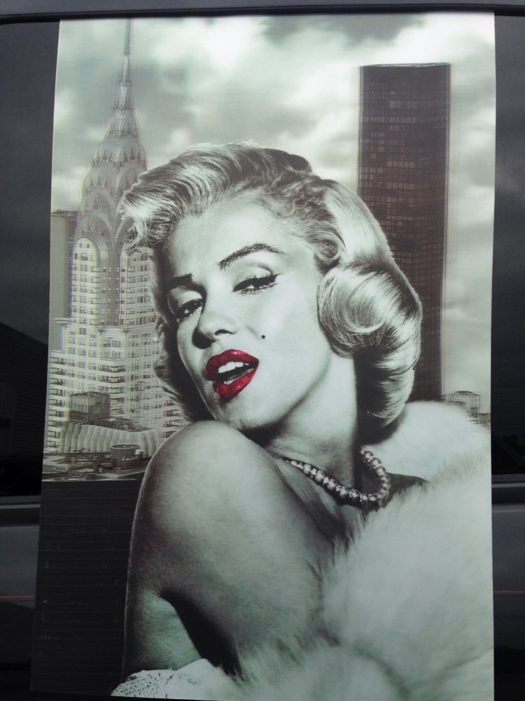 Marilyn Monroe 3d Black And Gray Poster 12 16 Dibujos
