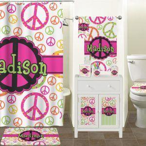 Peace Sign Bathroom Decor Peace Sign Fabric Shower Curtains  Httpotmh  Pinterest