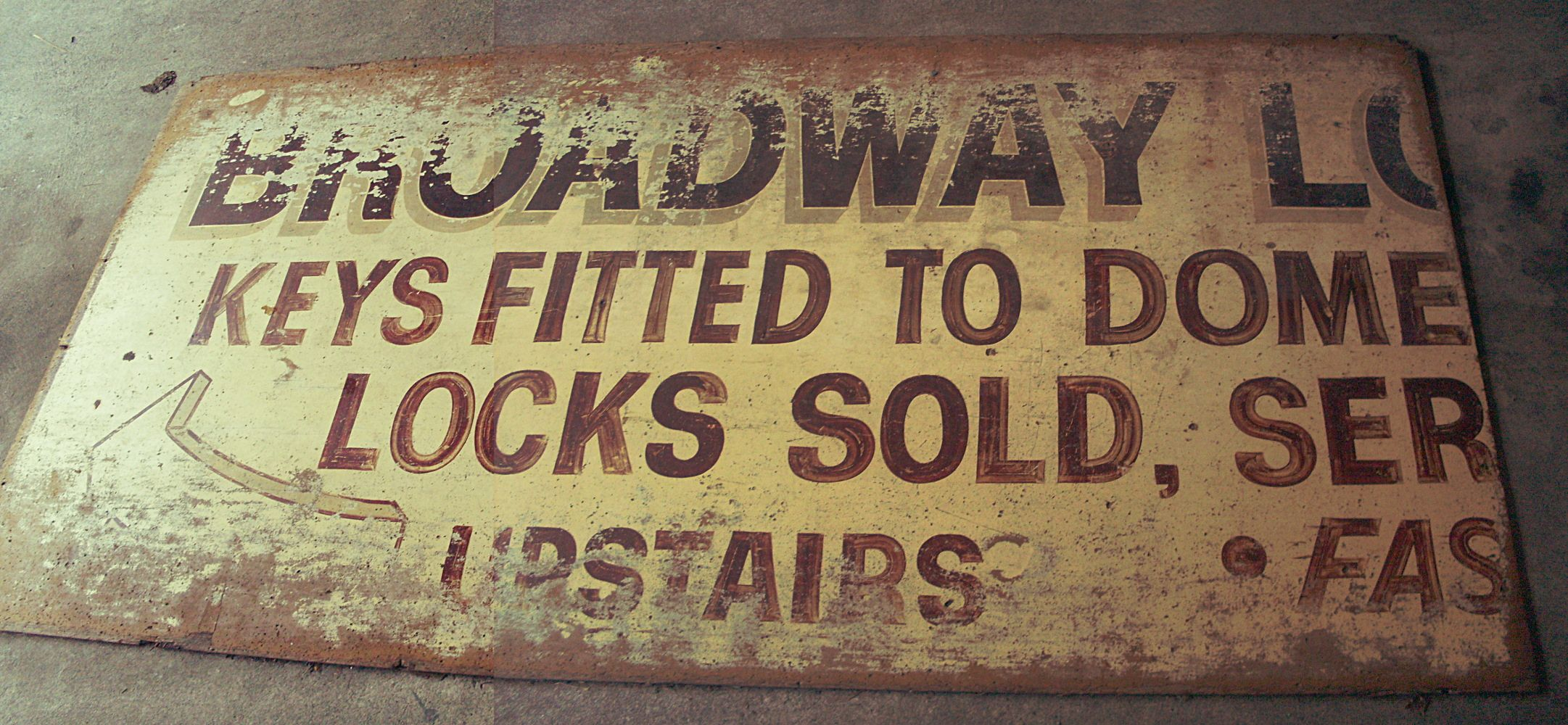 Very Old Signs - Very Distressed Old Hand Painted Sign