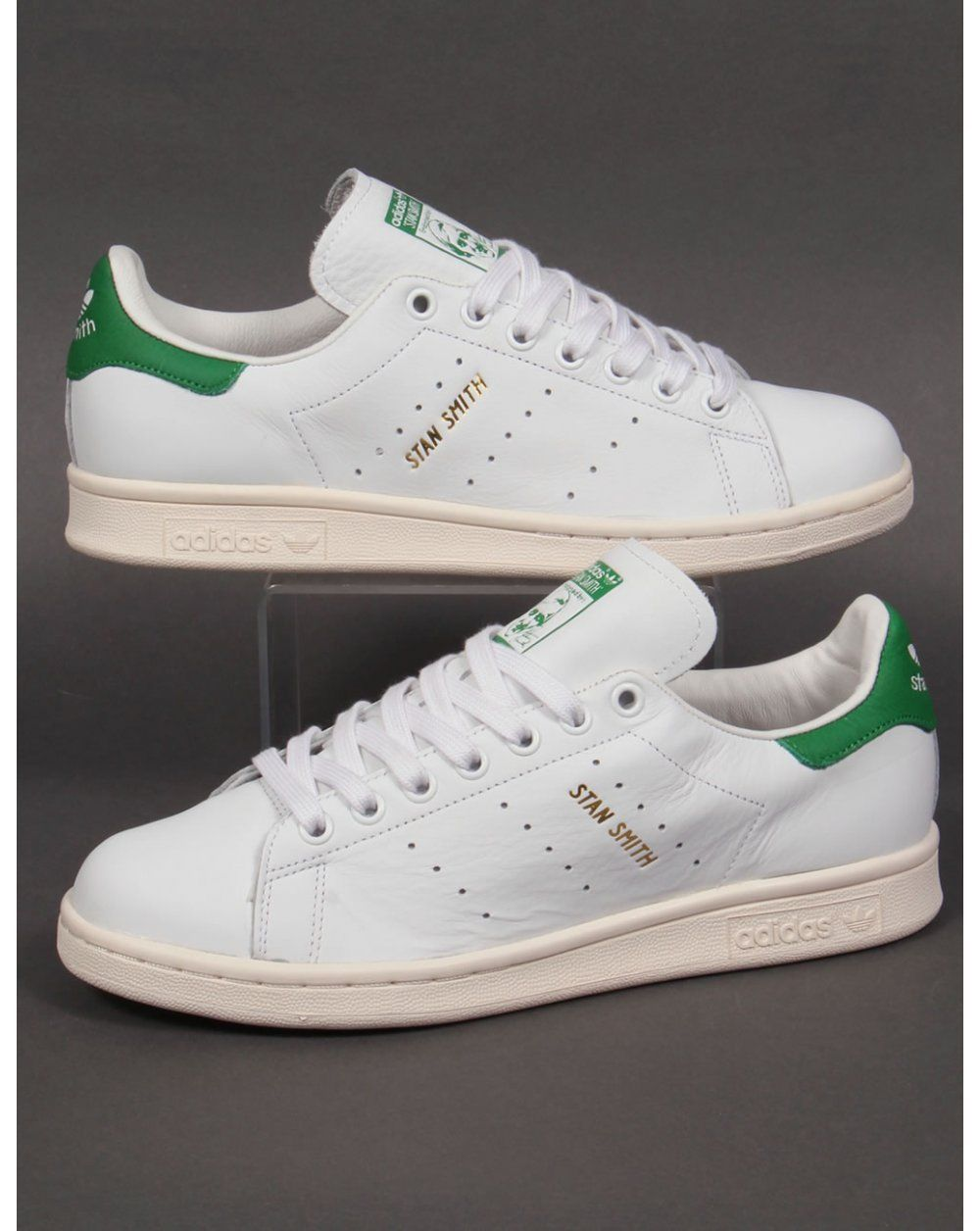 1ca128aeb99fe Adidas Originals Stan Smith Trainers in White   Green (Gold Print) (UK  Sizes) in Clothes