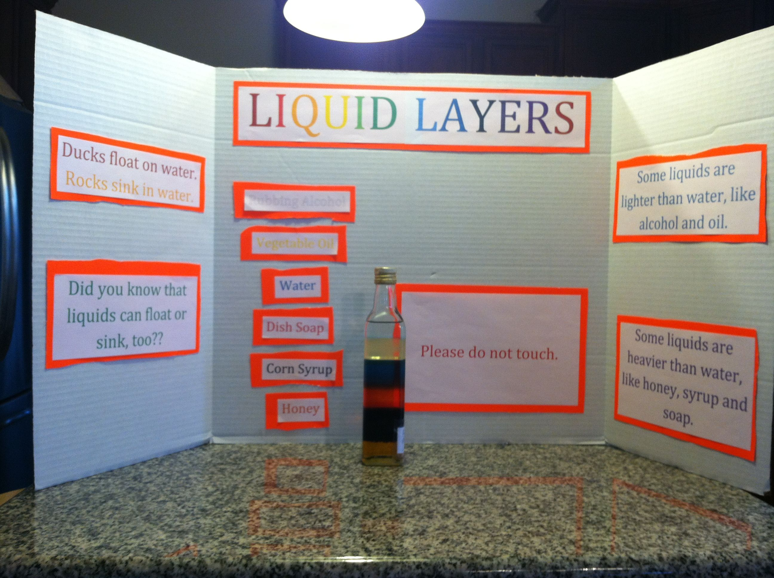 medium resolution of Liquid layers science project   Science projects
