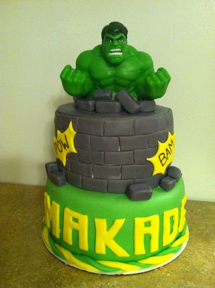Hulk cake cumpleaos de hulk Pinterest Hulk cakes Cake and