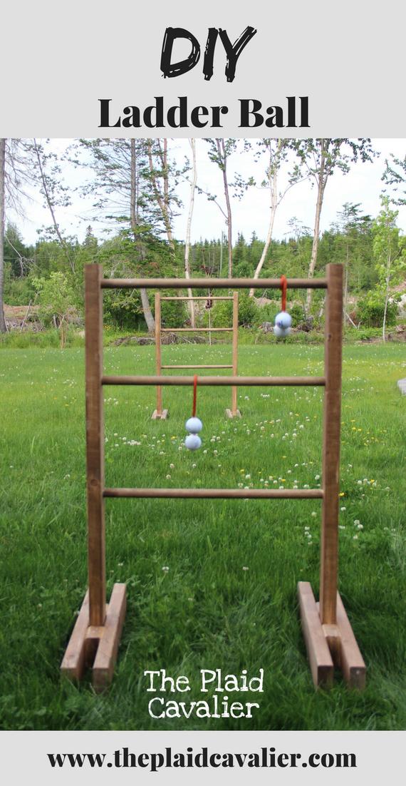 Ladder Ball The Plaid Cavalier Ladder Ball Diy Ladder Ball