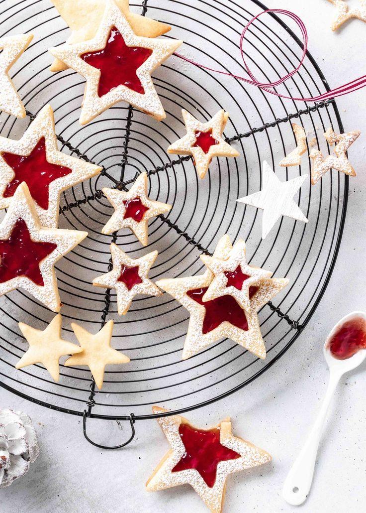 Photo of Best Linzer Cookies Recipe Stars Spitzbuben Jam Christmas Baking A …