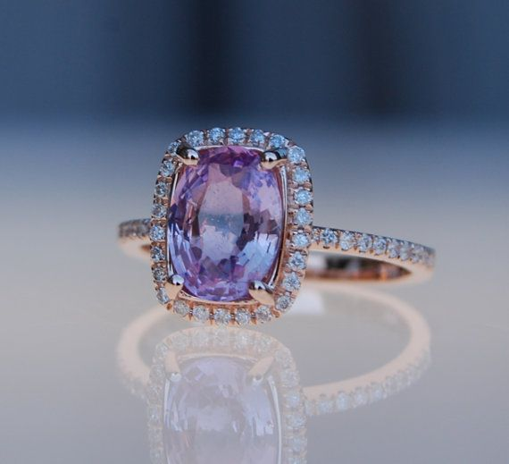 champagne il engagement rings gold diamond ring rose lavender sapphire listing