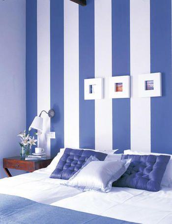 Consejos para pintar los dormitorios en dos colores4 - Pintar pared dormitorio ...