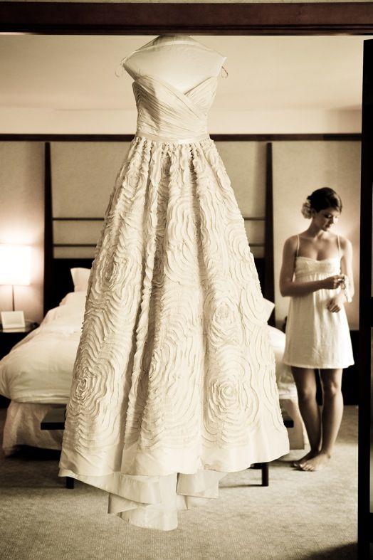 camera wedding dress