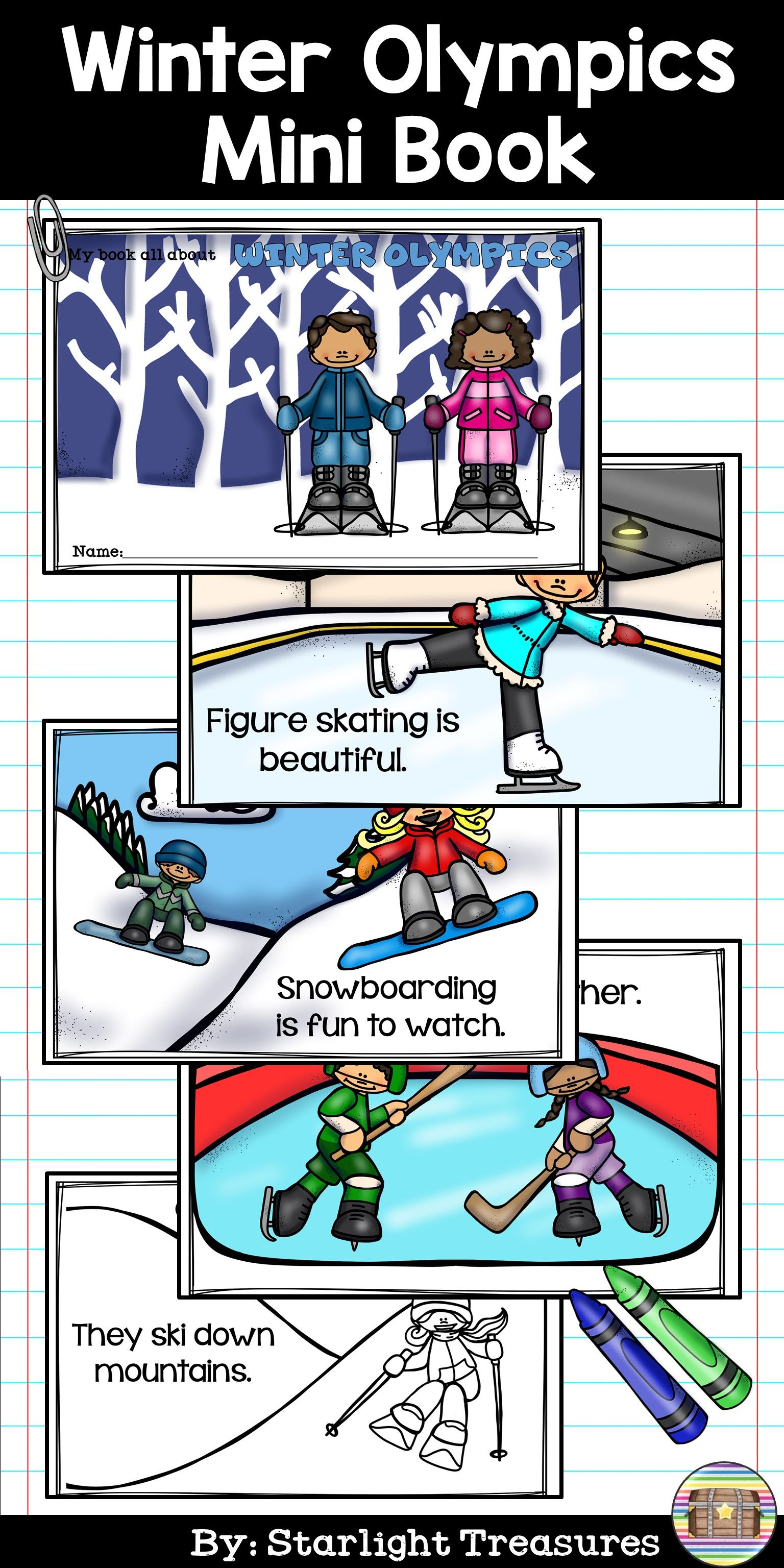 Winter Olympics Mini Book For Early Readers