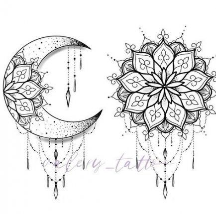 33 Ideas For Design Tattoo Mandala Sun Moon #tattoo #design in 2020 | Moon tattoo designs, Mandala tattoo design, Moon tattoo