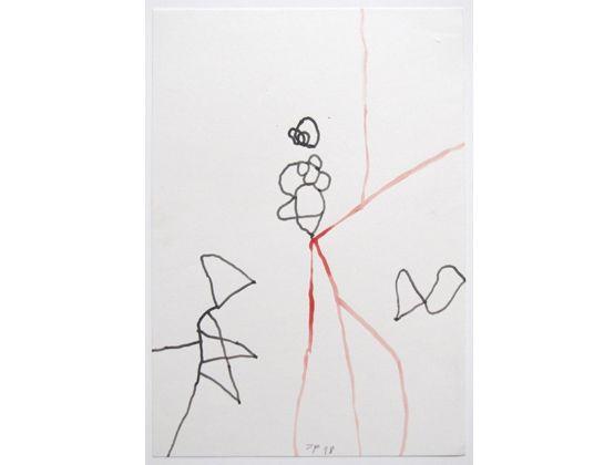 Jürgen Partenheimer ohne Titel  1998 Tusche, Aquarell auf Papier 24,6 x 17 cm