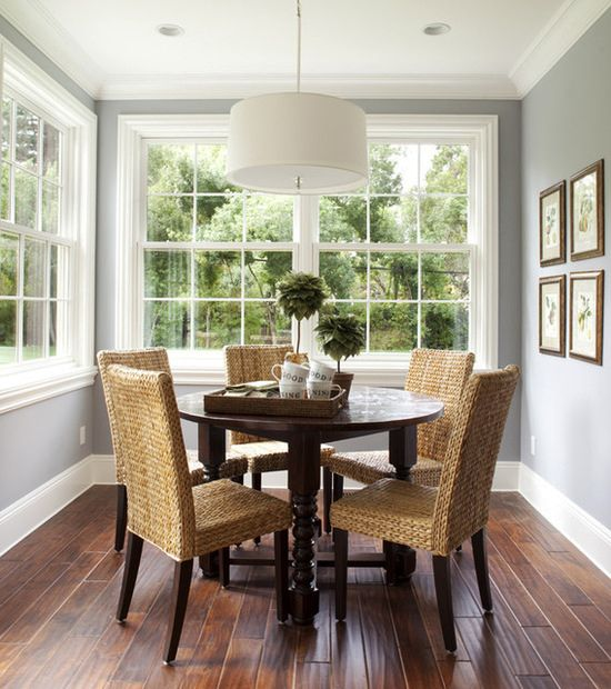 Seagrass Dining Chairs Dutch Colonial Homes Dining Room