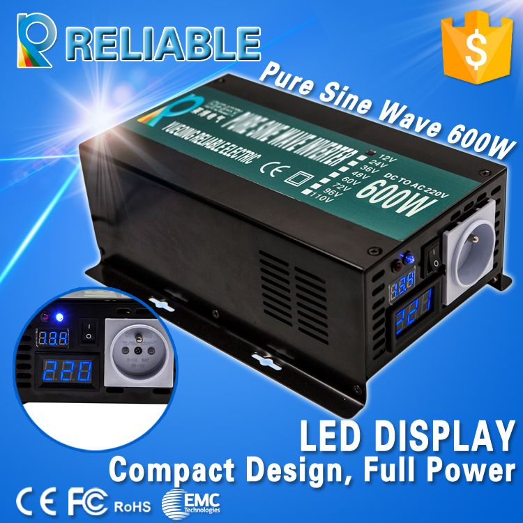 Free Shipping Led Display Off Grid 600w Full Power 12v 24v Dc To 110v 120v 220vac Converter Pure Sine Wave Solar Inverter Solar Power Inverter Power Inverters