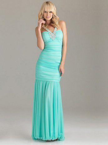 Long Light Blue Prom Dresses | Light Blue Sweetheart Crossing Back Long Prom Dress : formal dresses ...
