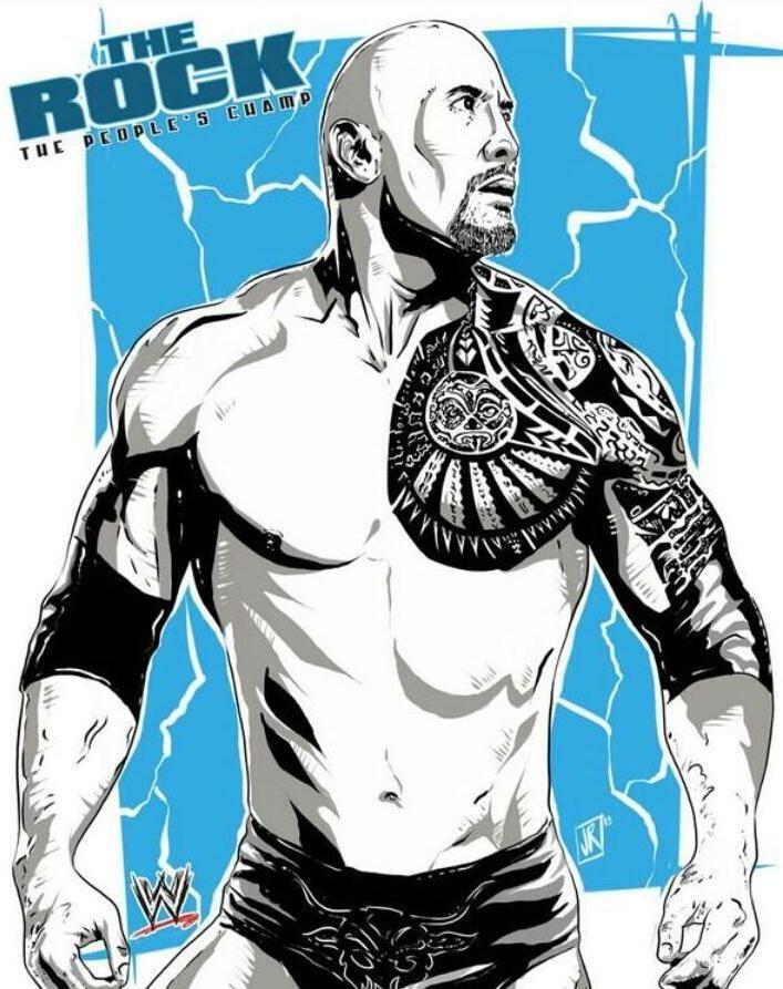 The Rock By Joe Romero Wwe Wwe The Rock The Rock Dwayne Johnson Wrestling Wwe