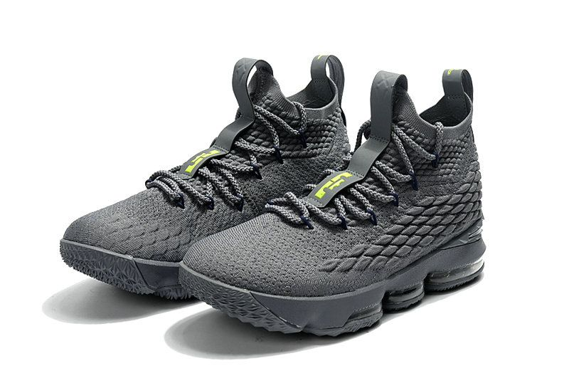quite nice a46b6 e1f95 Cheapest And Latest New Arrival March 2018 2019 Cheap LeBron 15 XV Wolf  Grey Lime Green