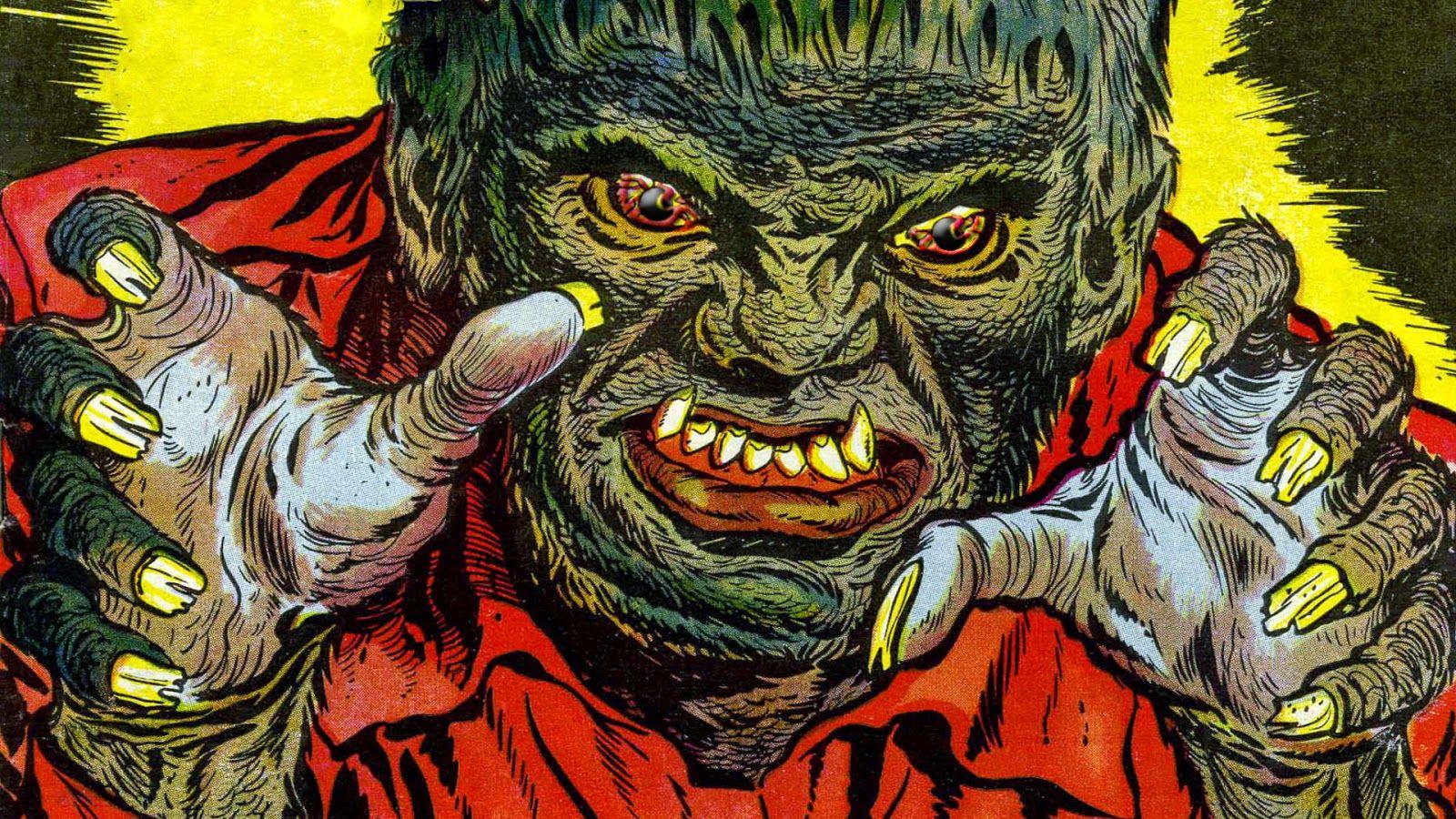 Halloween Vintage Wallpapers Crazy Frankenstein 1600 900 Vintage Halloween Wallpapers 50 Wallpapers Adorabl Arte Rara Decoraciones Para Carpetas Monstruos