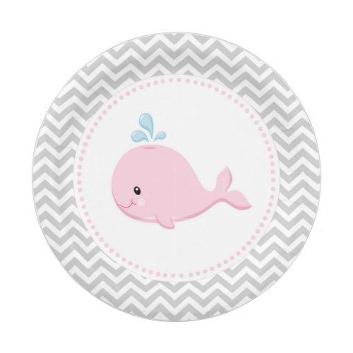 Whale Pink Grey Paper Plates  sc 1 st  Pinterest & Whale Pink Grey Paper Plates | Party Paper Plates | Pinterest