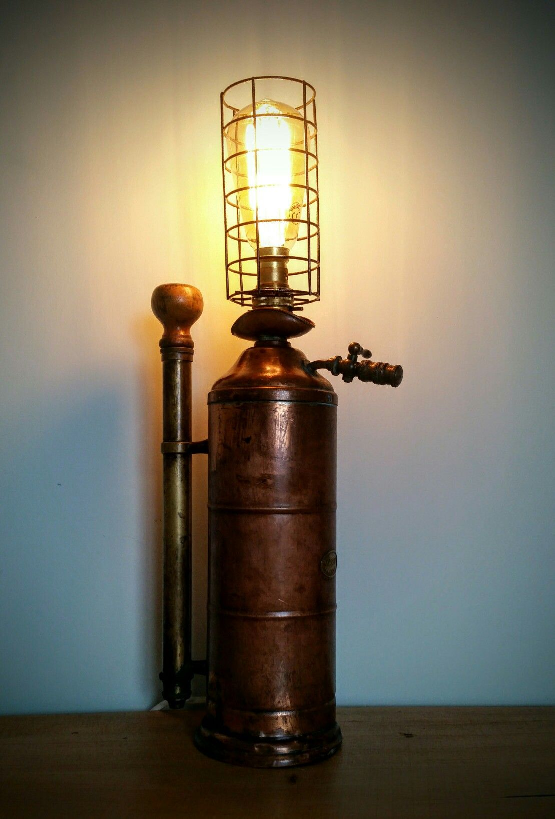Industrial Chic Lighting Amc77 Vintage Sprayer Lamp Steampunk Industrial