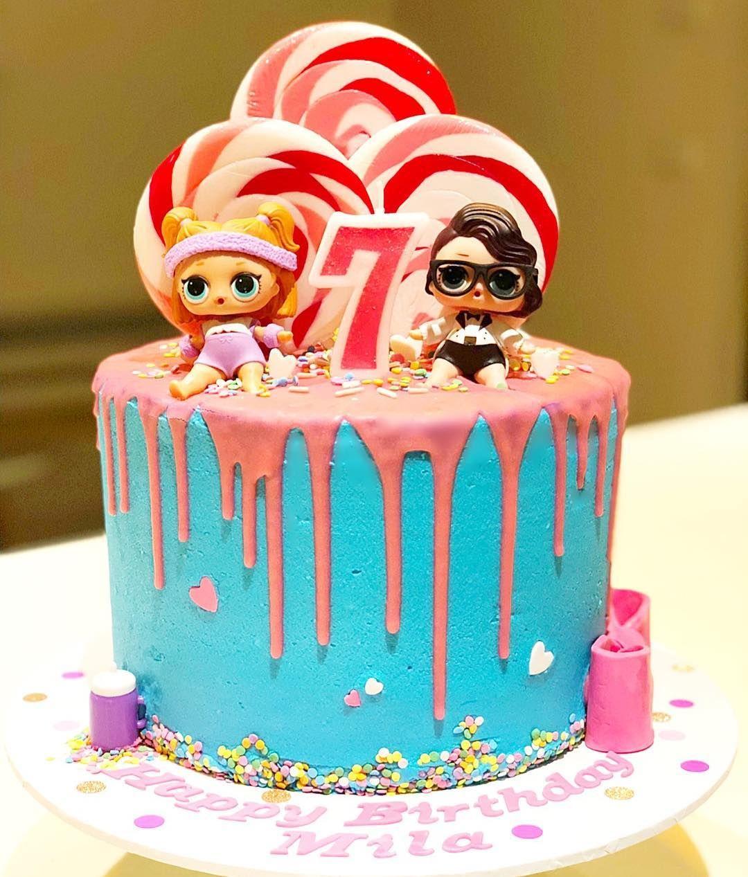 Milas 7th Birthday L.O.L Surprise Cake!!! LOLsurprise