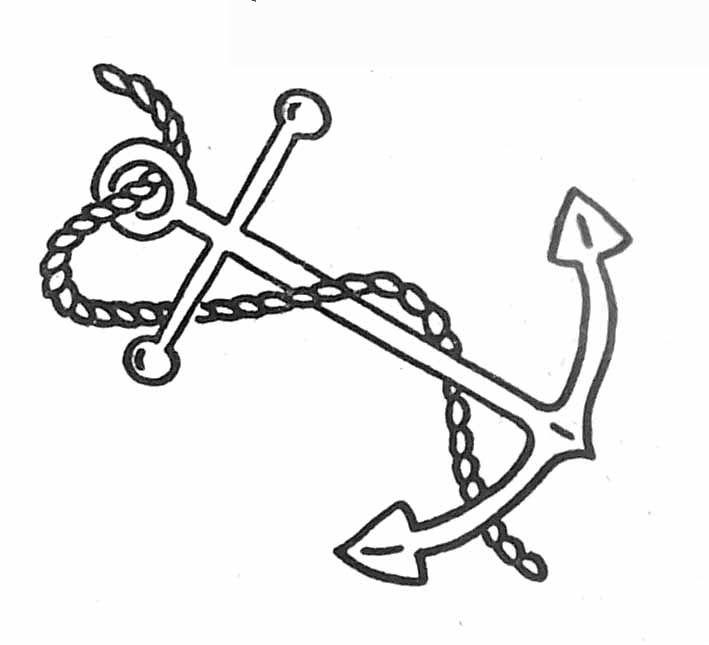 Ancre de bateau coloriage pour enfants pinterest ancre de bateau ancre et coloriage - Dessin ancre bateau ...