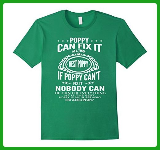 competitive price 27ed8 7b3f5 Mens My Poppy CAN FIX IT tshirt - Superhero Gift Funny T ...