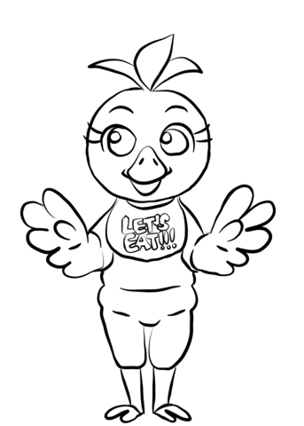 FNAF Chica Coloring page | (Chica) | Pinterest | FNAF, Coloring ...