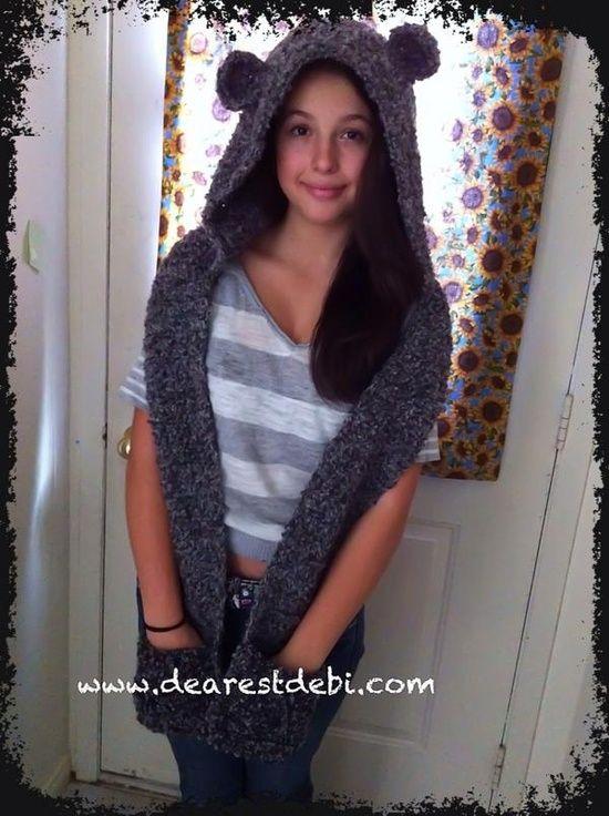 Snow Bear Scoodie *Free* Crochet Pattern by DearestDebi. | crochet ...