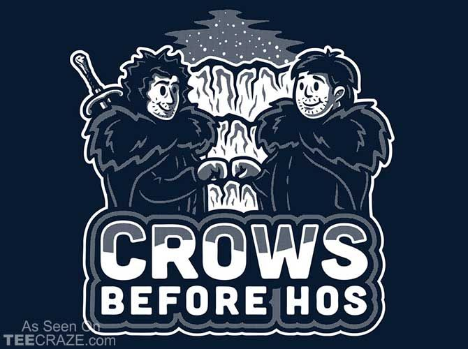 Crows Before Hoes T-Shirt Designed by brandonwilhelm  Source: http://teecraze.com/crows-before-hoes-t-shirt-2/