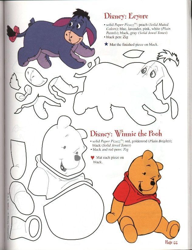 free felt patterns | FREE Winnie the Pooh and Eeyore Pattern