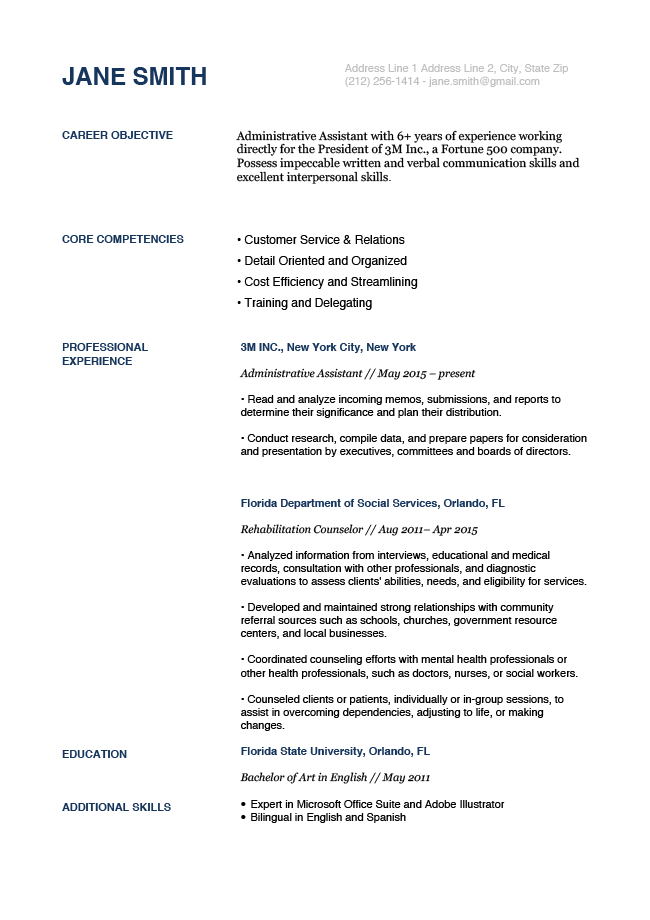 White House Blue Rg Resume Templates Free Resume Template Download Cv Template Word