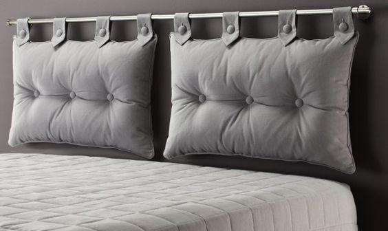 coussin pour tete de lit | Taşev | Pinterest | 침실, 침실 아이디어